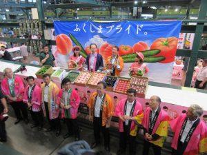 大田市場でのPRの様子